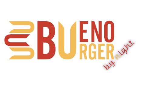 logo Bueno Burger by night
