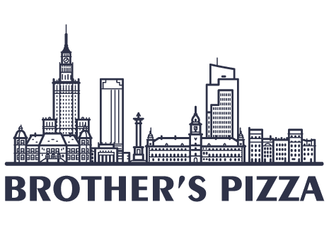 logo Brother's pizza Black and White